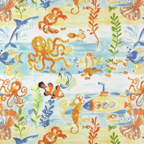 Prestigious Textiles Be Happy UnderTheSea Denim Made to Measure Curtains