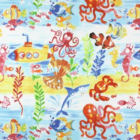 Prestigious Textiles Be Happy UnderTheSea Marine Roman Blind