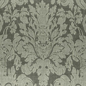 Clarke and Clarke  Colony Valentina Charcoal Curtain Fabric