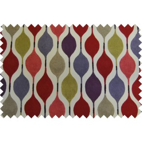 Zest Verve Berry Curtain Fabric