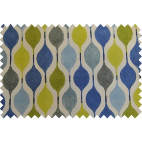 Zest Verve Bluebell Curtain Fabric