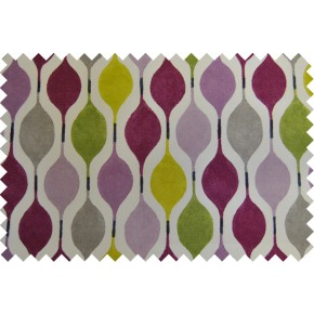 Zest Verve Damson Curtain Fabric
