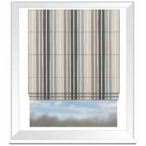 Clarke and Clarke Folia Albi Charcoal Roman Blind