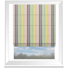 Clarke and Clarke Folia Albi Sorbet Roman Blind