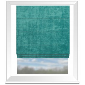 Clarke and Clarke Allure Aqua Roman Blind