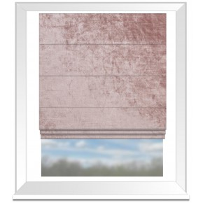Clarke and Clarke Allure Blush Roman Blind
