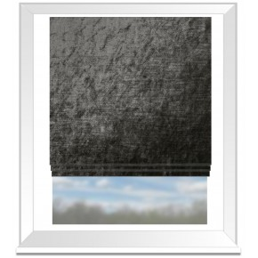 Clarke and Clarke Allure Charcoal Roman Blind
