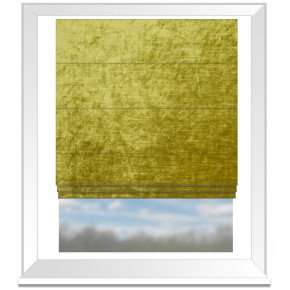 Clarke and Clarke Allure Chartreuse Roman Blind