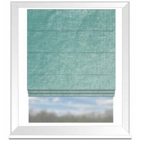 Clarke and Clarke Allure Duckegg Roman Blind