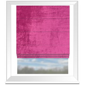 Clarke and Clarke Allure Magenta Roman Blind