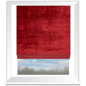 Clarke and Clarke Allure Ruby Roman Blind