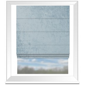 Clarke and Clarke Allure Sky Roman Blind