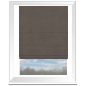 Clarke and Clarke Altea Walnut Roman Blind