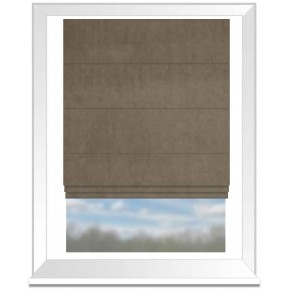 Clarke and Clarke Alvar Bark Roman Blind
