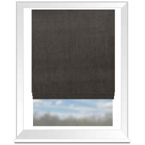 Clarke and Clarke Gustavo Alvar Charcoal Roman Blind