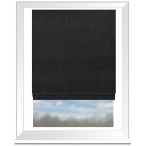 Clarke and Clarke Alvar Ebony Roman Blind