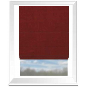 Clarke and Clarke Alvar Flame Roman Blind