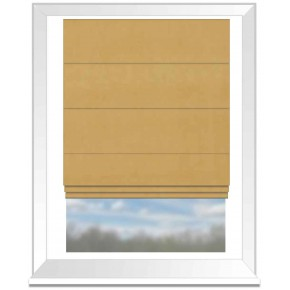 Clarke and Clarke Alvar Gold Roman Blind