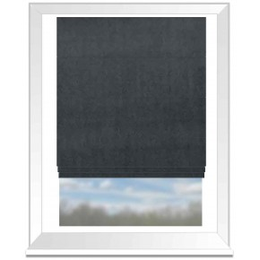Clarke and Clarke Alvar Midnight Roman Blind
