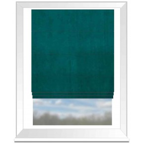 Clarke and Clarke Gustavo Alvar Teal Roman Blind