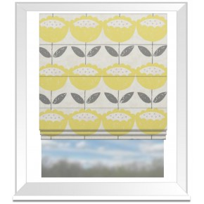 Clarke and Clarke Folia Anais Citrus Roman Blind