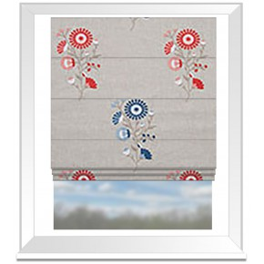 Clarke and Clarke Oslo Arla Coral Denim Roman Blind