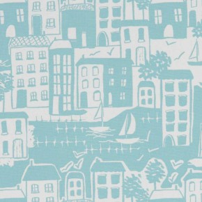 A Land and Sea Waterside Duckegg Curtain Fabric