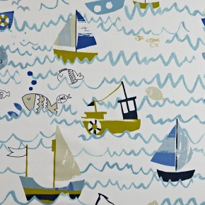 Prestigious Textiles Playtime Waves Denim Roman Blind