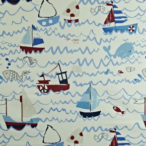 Prestigious Textiles Playtime Waves Marine Made to Measure Curtains