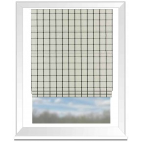 Clarke and Clarke Glenmore Aviemore Charcoal Roman Blind