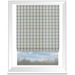 Clarke and Clarke Glenmore Aviemore Denim Roman Blind