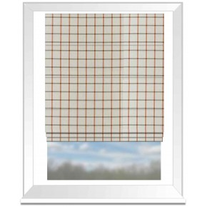 Clarke and Clarke Glenmore Aviemore OliveSpice Roman Blind