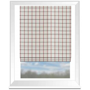 Clarke and Clarke Glenmore Aviemore Red Roman Blind