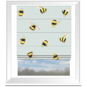 A Village Life  Bees  Duckegg Roman Blind