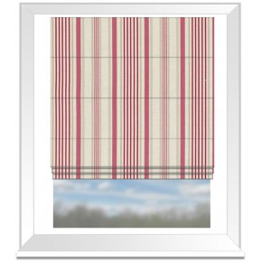 Clarke and Clarke Genevieve Belle Raspberry Roman Blind