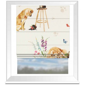 A Village Life  Best Of Friends  Cream  Roman Blind