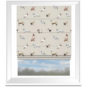 Clarke and Clarke Blighty Best Of Show Natural Roman Blind