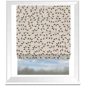 Avebury Bibury Midnight Roman Blind