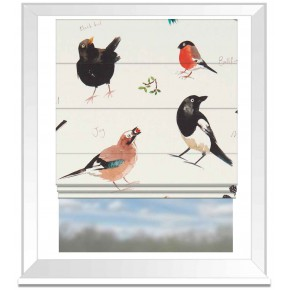 A Village Life  Bird Watch  Cream  Roman Blind