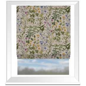 Country Garden Buttercup Linen Roman Blind