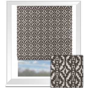 Clarke and Clarke BW1005 Black and White Roman Blind