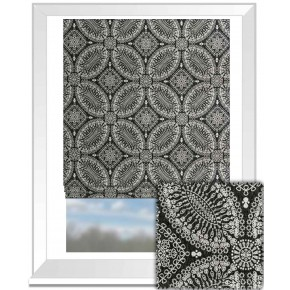 Clarke and Clarke BW1007 Black and White Roman Blind