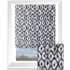 Clarke and Clarke BW1008 Black and White Roman Blind