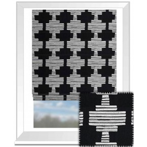 Clarke and Clarke BW1010 Black and White Roman Blind