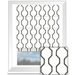 Clarke and Clarke BW1012 Black and White Roman Blind