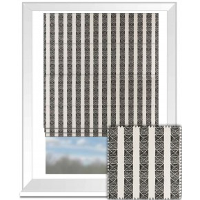 Clarke and Clarke BW1013 Black and White Roman Blind