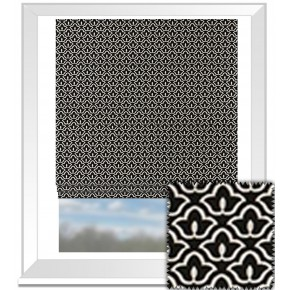 Clarke and Clarke BW1014 Black and White Roman Blind