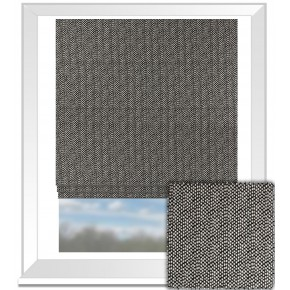 Clarke and Clarke BW1015 Black and White Roman Blind