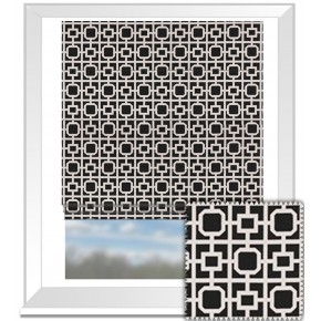 Clarke and Clarke BW1017 Black and White Roman Blind