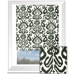Clarke and Clarke BW1018 Black and White Roman Blind